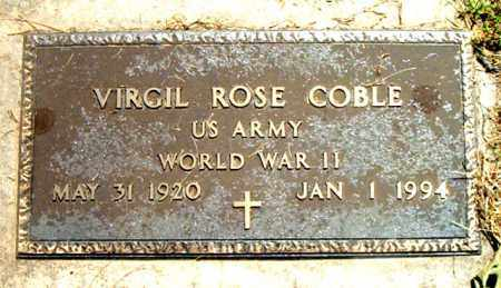 COBLE  (VETERAN WWII), VIRGIL ROSE - Boone County, Arkansas | VIRGIL ROSE COBLE  (VETERAN WWII) - Arkansas Gravestone Photos
