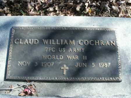 COCHRAN  (VETERAN WWII), CLAUD WILLIAM - Boone County, Arkansas   CLAUD WILLIAM COCHRAN  (VETERAN WWII) - Arkansas Gravestone Photos