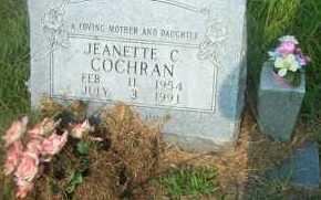 COCHRAN, JEANETTE C - Boone County, Arkansas | JEANETTE C COCHRAN - Arkansas Gravestone Photos