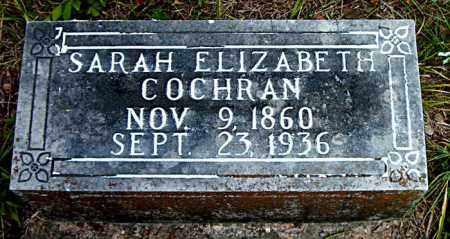 COCHRAN, SARAH ELIZABETH - Boone County, Arkansas | SARAH ELIZABETH COCHRAN - Arkansas Gravestone Photos