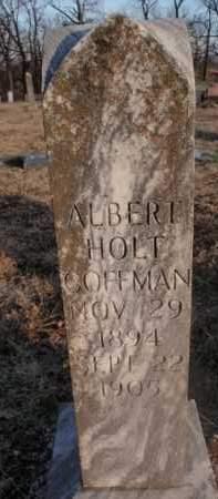 COFFMAN, ALBERT HOLT - Boone County, Arkansas | ALBERT HOLT COFFMAN - Arkansas Gravestone Photos