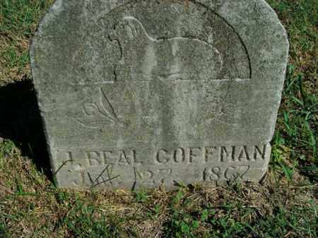 COFFMAN, J. BEAL - Boone County, Arkansas | J. BEAL COFFMAN - Arkansas Gravestone Photos