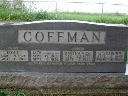 COFFMAN, J. SEABORN - Boone County, Arkansas | J. SEABORN COFFMAN - Arkansas Gravestone Photos
