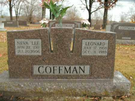 COFFMAN, LEONARD - Boone County, Arkansas | LEONARD COFFMAN - Arkansas Gravestone Photos