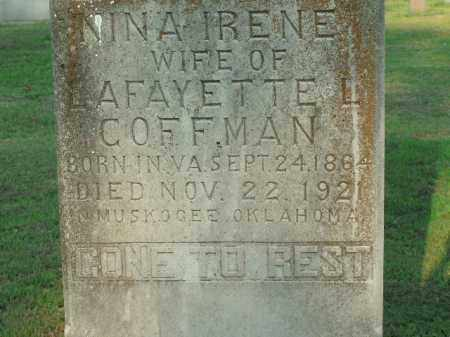 COFFMAN, NINA IRENE - Boone County, Arkansas | NINA IRENE COFFMAN - Arkansas Gravestone Photos
