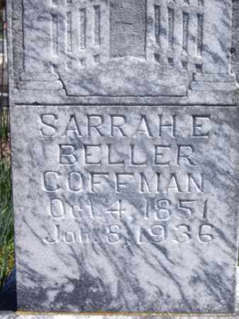BELLER COFFMAN, SARAH E. - Boone County, Arkansas | SARAH E. BELLER COFFMAN - Arkansas Gravestone Photos