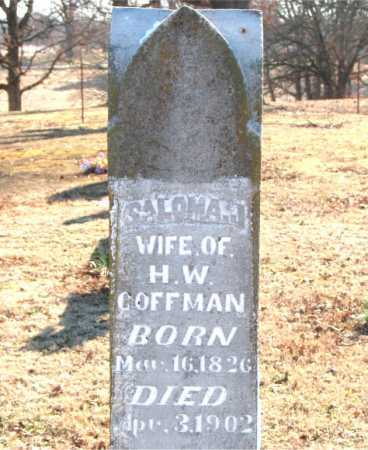 COFFMAN, SALOMA  JANE - Boone County, Arkansas | SALOMA  JANE COFFMAN - Arkansas Gravestone Photos