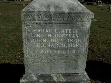 COFFMAN, SARAH L. - Boone County, Arkansas | SARAH L. COFFMAN - Arkansas Gravestone Photos