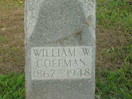 COFFMAN, WILLIAM WALTER - Boone County, Arkansas | WILLIAM WALTER COFFMAN - Arkansas Gravestone Photos