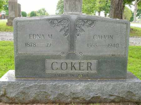 COKER, EDNA M. - Boone County, Arkansas | EDNA M. COKER - Arkansas Gravestone Photos