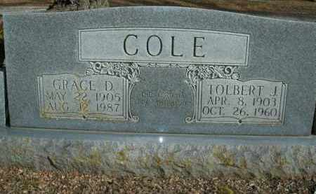 COLE, GRACE D. - Boone County, Arkansas | GRACE D. COLE - Arkansas Gravestone Photos