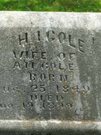 COLE, H. I. - Boone County, Arkansas | H. I. COLE - Arkansas Gravestone Photos