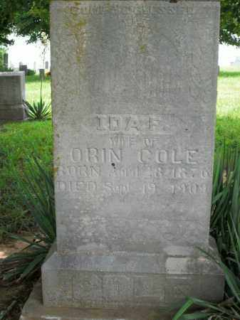 COLE, IDA F. - Boone County, Arkansas | IDA F. COLE - Arkansas Gravestone Photos