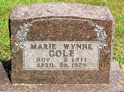WYNNE COLE, MARIE - Boone County, Arkansas | MARIE WYNNE COLE - Arkansas Gravestone Photos
