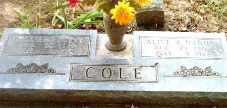 DANIEL COLE, ALICE  A. - Boone County, Arkansas | ALICE  A. DANIEL COLE - Arkansas Gravestone Photos