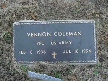 COLEMAN  (VETERAN), VERNON - Boone County, Arkansas | VERNON COLEMAN  (VETERAN) - Arkansas Gravestone Photos