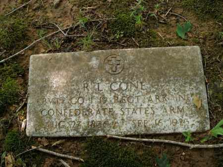 CONE  (VETERAN CSA), RAFUS LOUIS - Boone County, Arkansas | RAFUS LOUIS CONE  (VETERAN CSA) - Arkansas Gravestone Photos