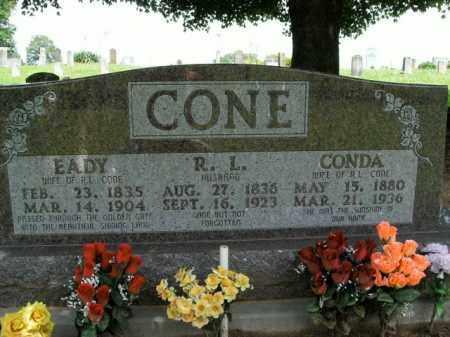 CONE, CONDA - Boone County, Arkansas | CONDA CONE - Arkansas Gravestone Photos