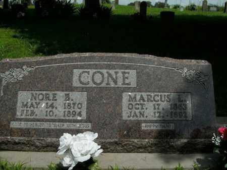 CONE, NORE B. - Boone County, Arkansas | NORE B. CONE - Arkansas Gravestone Photos