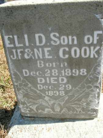 COOK, ELI D. - Boone County, Arkansas | ELI D. COOK - Arkansas Gravestone Photos