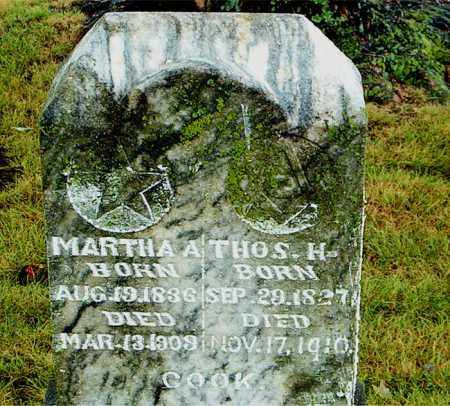 COOK, MARTHA  A. - Boone County, Arkansas | MARTHA  A. COOK - Arkansas Gravestone Photos