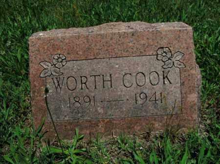 COOK, WORTH - Boone County, Arkansas | WORTH COOK - Arkansas Gravestone Photos
