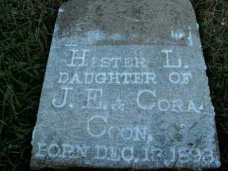 COON, HESTER L. - Boone County, Arkansas | HESTER L. COON - Arkansas Gravestone Photos