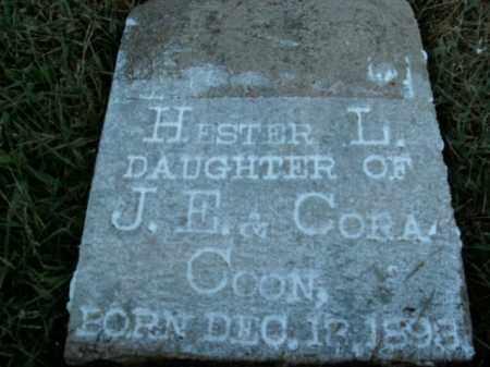 COON, HESTER L. - Boone County, Arkansas | HESTER L. COON - Arkansas Gravestone Photos