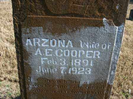 COOPER, ARZONA - Boone County, Arkansas | ARZONA COOPER - Arkansas Gravestone Photos