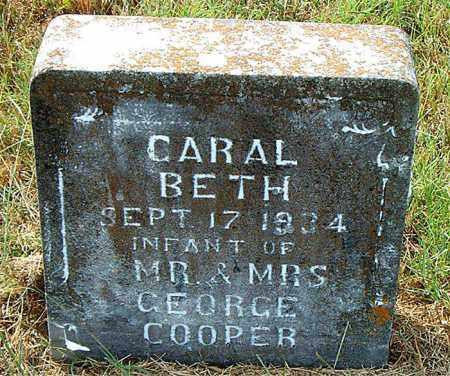 COOPER, CARAL BETH - Boone County, Arkansas | CARAL BETH COOPER - Arkansas Gravestone Photos