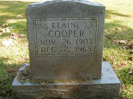COOPER, ELAINE - Boone County, Arkansas | ELAINE COOPER - Arkansas Gravestone Photos