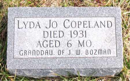 COPELAND, LYDA JO - Boone County, Arkansas | LYDA JO COPELAND - Arkansas Gravestone Photos