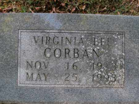 CORBAN, VIRGINIA LEE - Boone County, Arkansas | VIRGINIA LEE CORBAN - Arkansas Gravestone Photos