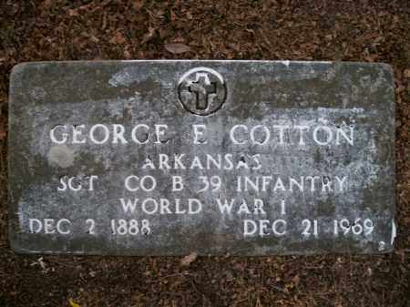COTTON  (VETERAN WWI), GEORGE E - Boone County, Arkansas | GEORGE E COTTON  (VETERAN WWI) - Arkansas Gravestone Photos