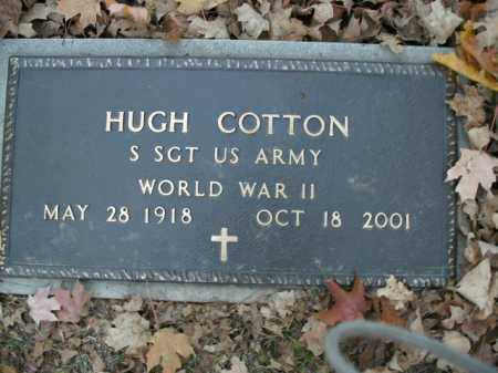 COTTON  (VETERAN WWII), HUGH - Boone County, Arkansas | HUGH COTTON  (VETERAN WWII) - Arkansas Gravestone Photos