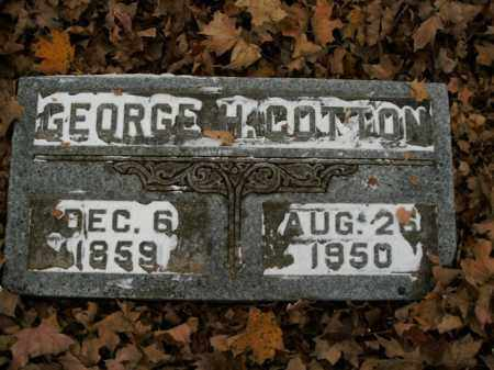 COTTON, GEORGE H. - Boone County, Arkansas | GEORGE H. COTTON - Arkansas Gravestone Photos