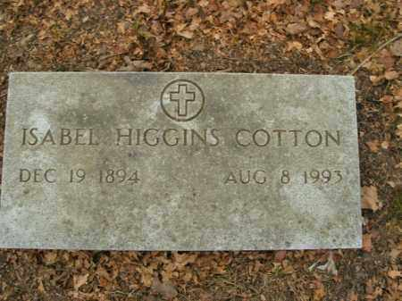 HIGGINS COTTON, ISABEL - Boone County, Arkansas | ISABEL HIGGINS COTTON - Arkansas Gravestone Photos