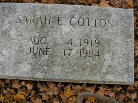 COTTON, SARAH E. - Boone County, Arkansas | SARAH E. COTTON - Arkansas Gravestone Photos