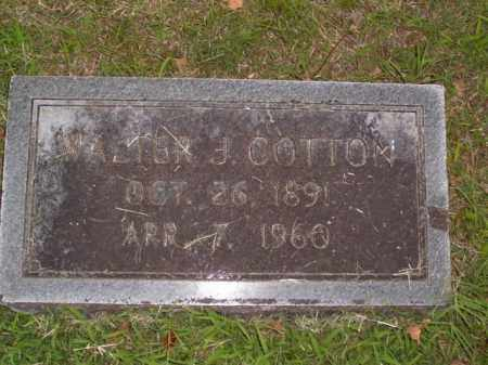 COTTON (VETERAN WWI), WALTER J. - Boone County, Arkansas | WALTER J. COTTON (VETERAN WWI) - Arkansas Gravestone Photos