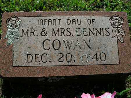 COWAN, INFANT DAUGHTER - Boone County, Arkansas | INFANT DAUGHTER COWAN - Arkansas Gravestone Photos