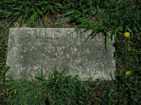 COWAN, SALLIE BUNCH - Boone County, Arkansas | SALLIE BUNCH COWAN - Arkansas Gravestone Photos