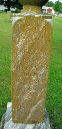 COX, HENRY L. - Boone County, Arkansas | HENRY L. COX - Arkansas Gravestone Photos