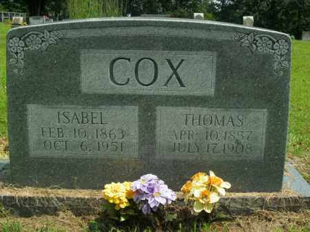 COX, ISABEL - Boone County, Arkansas | ISABEL COX - Arkansas Gravestone Photos