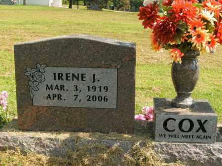 COX, IRENE J. - Boone County, Arkansas | IRENE J. COX - Arkansas Gravestone Photos