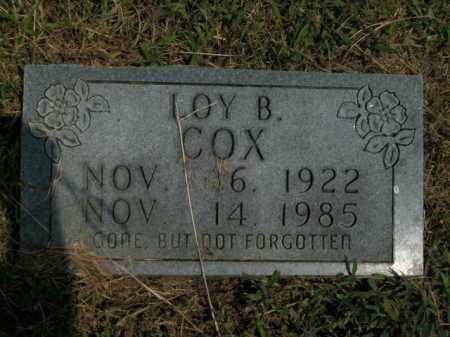 COX, LOY B. - Boone County, Arkansas | LOY B. COX - Arkansas Gravestone Photos