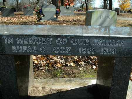 COX, RUFAS CALVIN - Boone County, Arkansas | RUFAS CALVIN COX - Arkansas Gravestone Photos