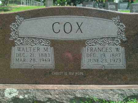 COX, FRANCES W. - Boone County, Arkansas | FRANCES W. COX - Arkansas Gravestone Photos