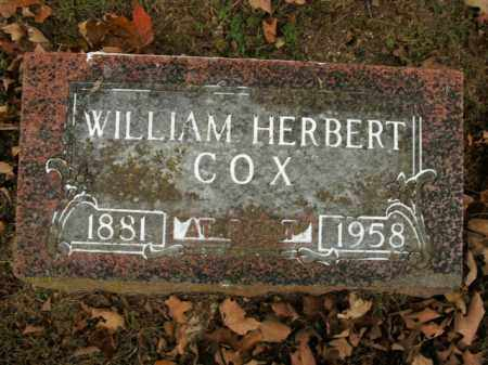 COX, WILLIAM HERBERT - Boone County, Arkansas | WILLIAM HERBERT COX - Arkansas Gravestone Photos