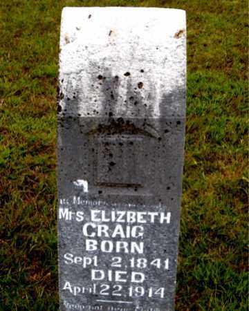 CRAIG, ELIZABETH - Boone County, Arkansas | ELIZABETH CRAIG - Arkansas Gravestone Photos