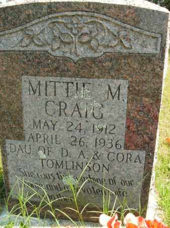CRAIG, MITTIE M. - Boone County, Arkansas | MITTIE M. CRAIG - Arkansas Gravestone Photos